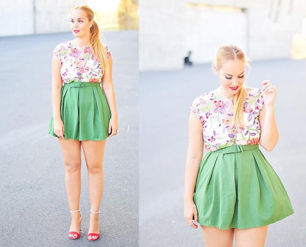người thấp béo nên mặc váy gì