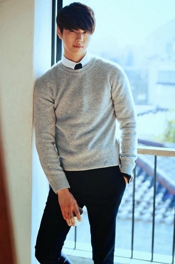 Áo len và áo sơ mi thích hợp cho nam giới yêu thích phong cách đơn giản, nhẹ nhàng